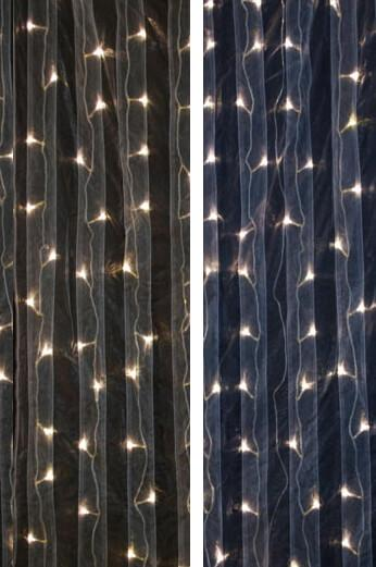 led light curtain 5 x 7 dual color warm cool white leds