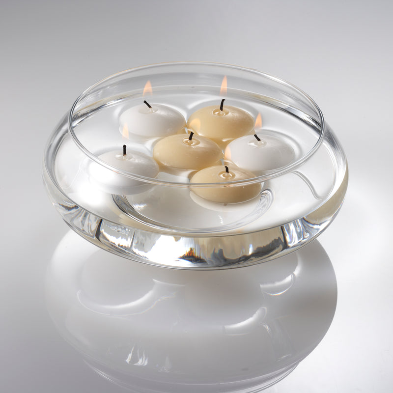 "Eastland Floating Candle Dish Garden 8"" Set of 6"