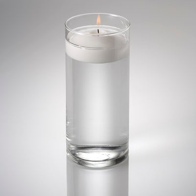 eastland cylinder floating candle holder 3 25 x7 5 set of 12
