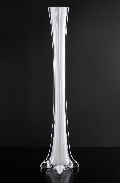 White Glass Eiffel Tower Vases 16""