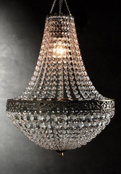 Renaissance Crystal Chandelier 25in with Lighting Kit