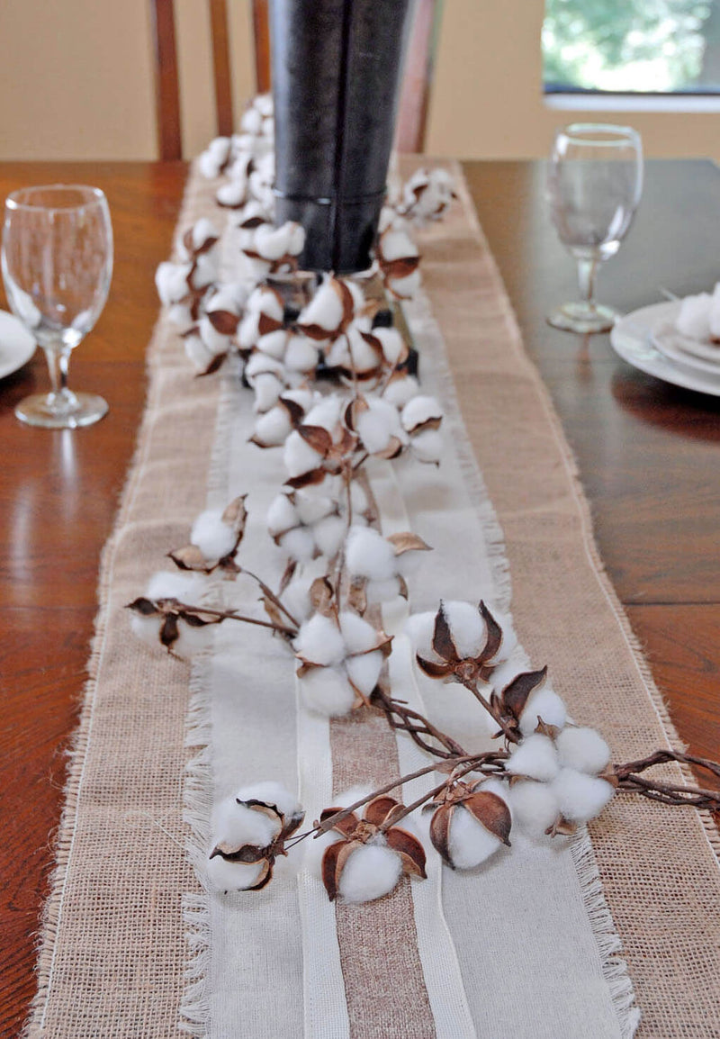 6' Faux Cotton Boll Garland