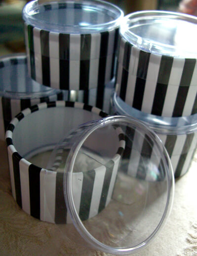 black white st tropez favor boxes six boxes striped 2