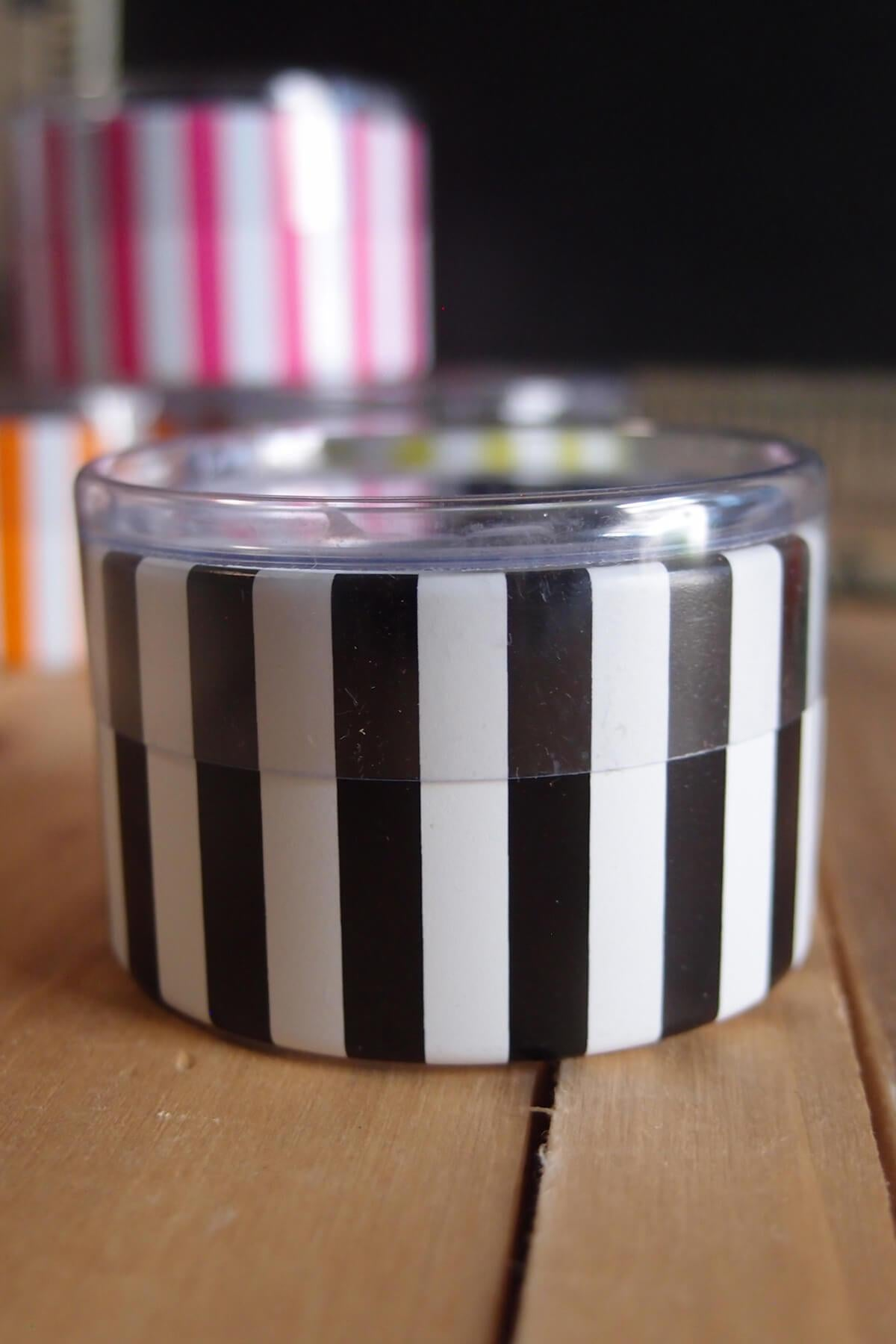 Black & White St. Tropez Favor Boxes (six boxes) Striped 2""