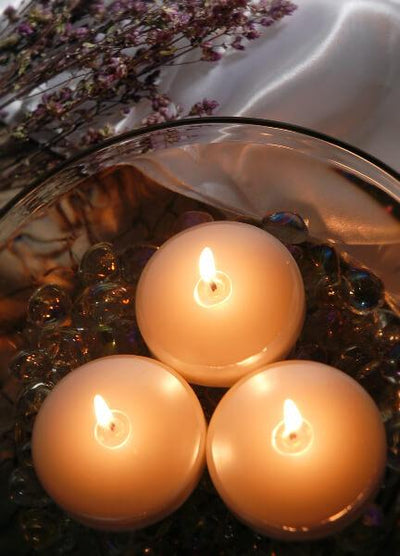 pearl white floating candles 3 6 candles