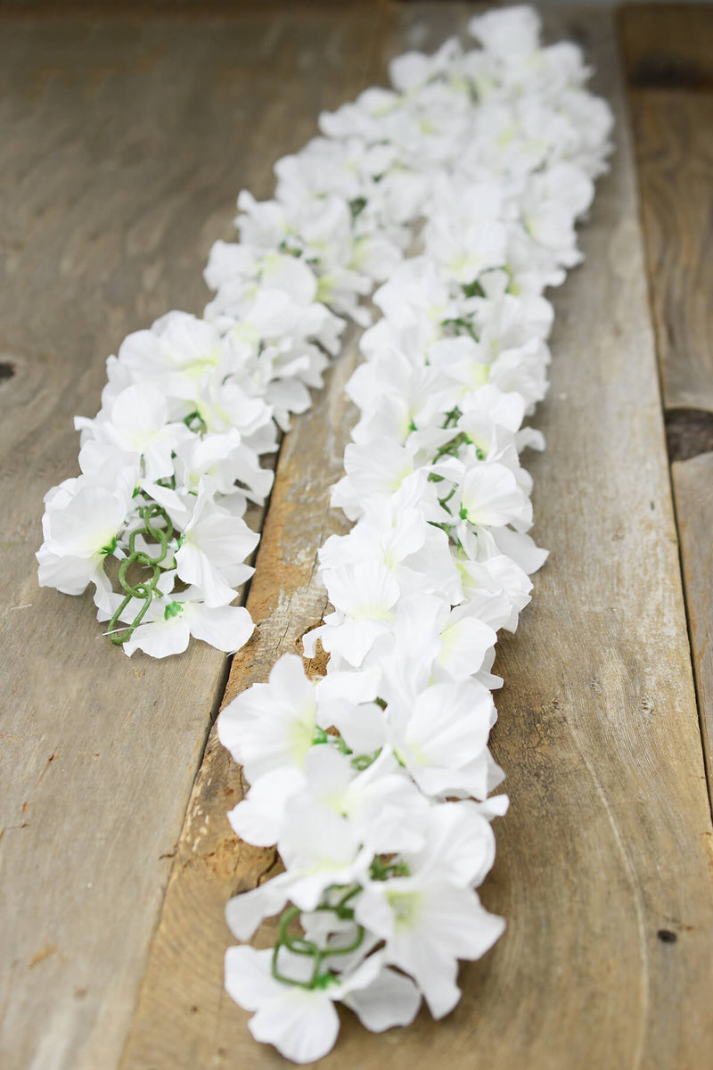 White Silk Hydrangea Chained Garland