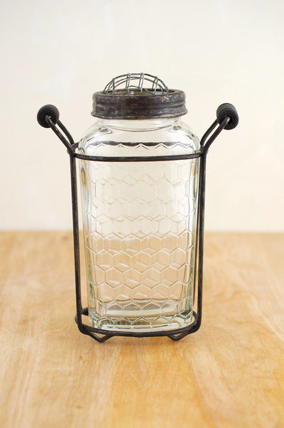 Glass Bottle Honeycomb 6in