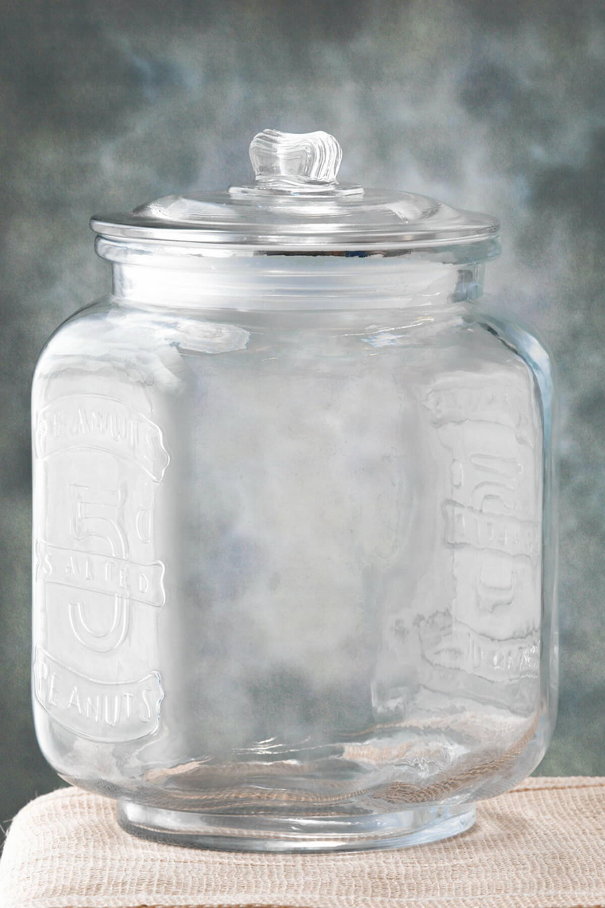 Glass Cookie Jar Large 8.25 x 12in