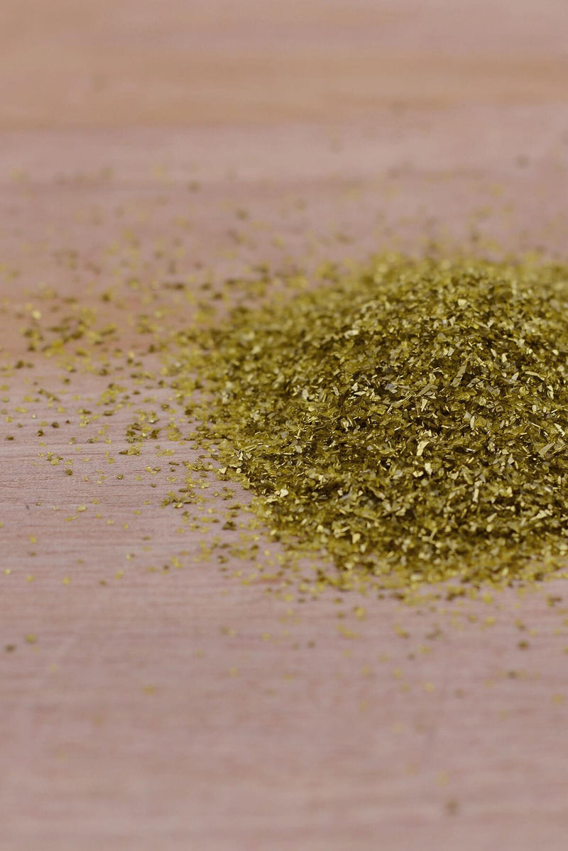 Gold Glass Glitter   Antique Gold .3-.6mm 1lb