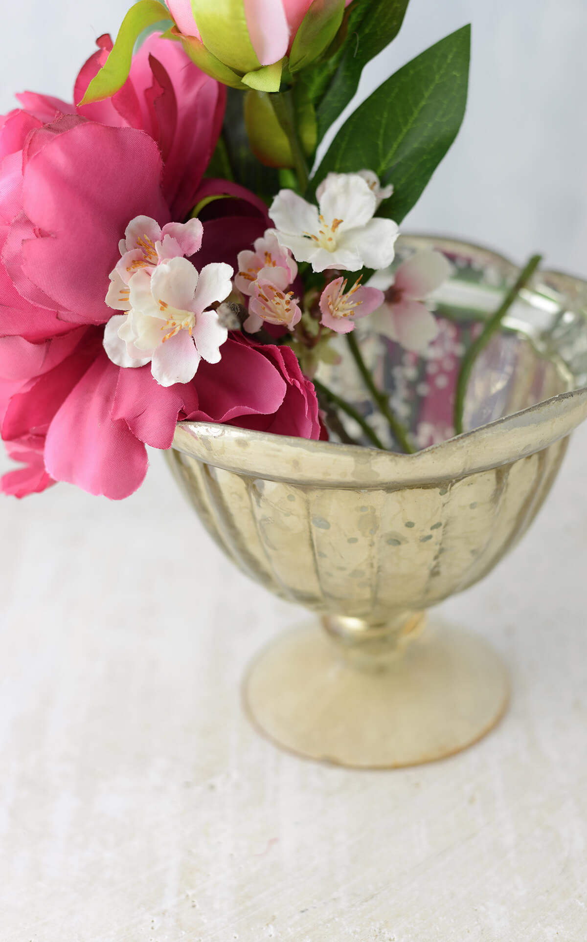 Gold Carraway Compote Vase