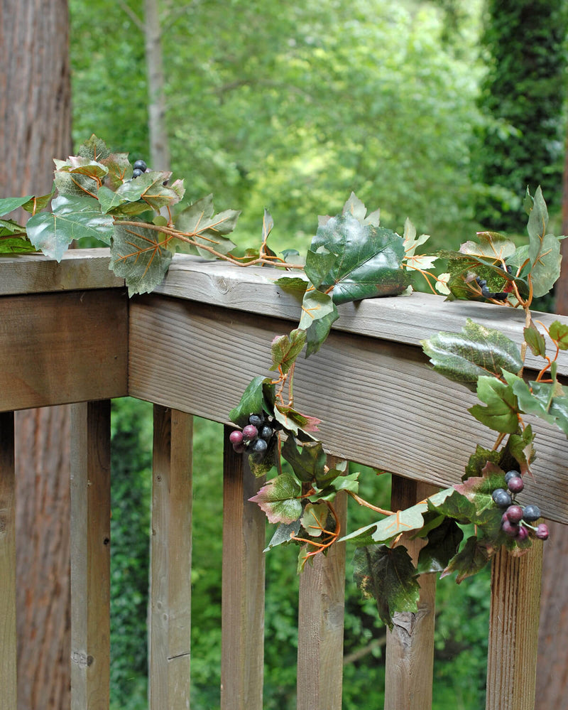Faux Grape Leaf Garland 6ft