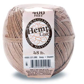 Hemp Cord 400ft - 48lb weight