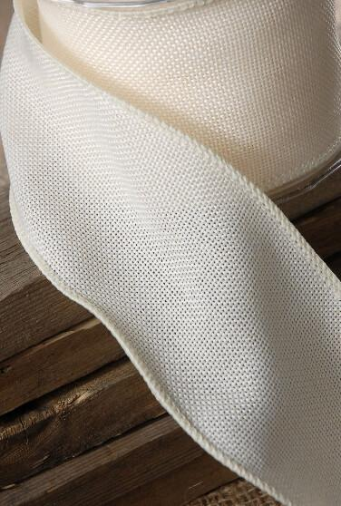 Fine Ivory Burlap Ribbon 3in x 10 yds