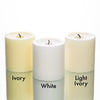 "Richland Pillar Candles 3""x3"" Light Ivory Set of 24"