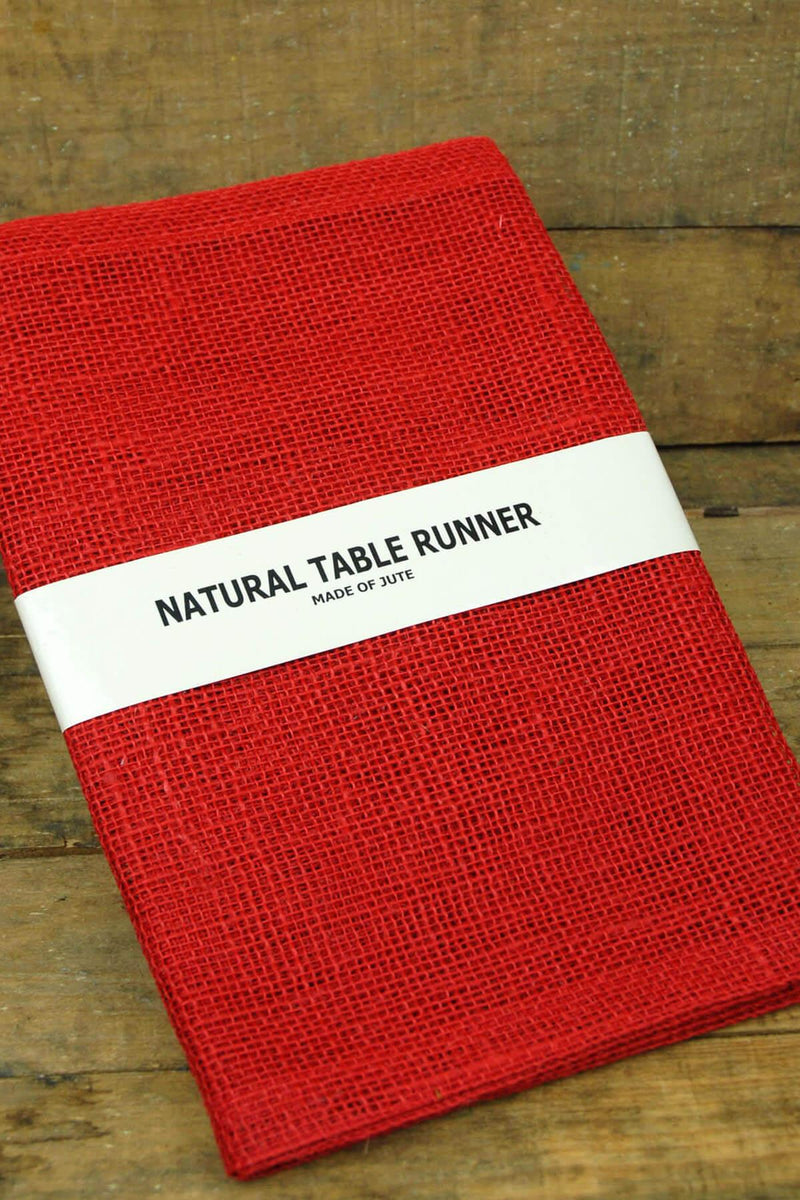 Jute Table Runner Red 14x72in