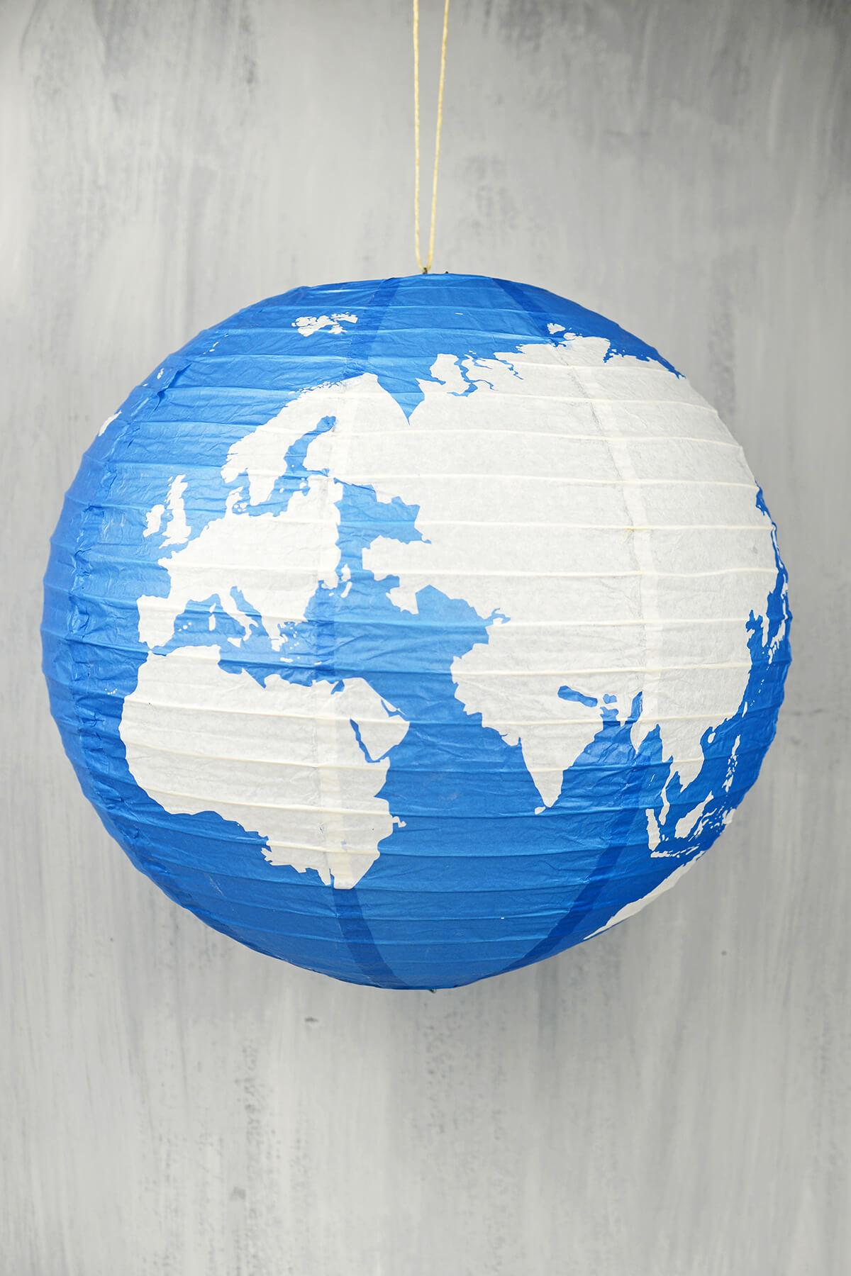 16 earth globe paper lanterns
