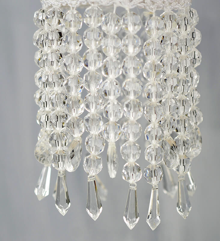 "Crystal 16"" White Wedding Paper Lanterns"