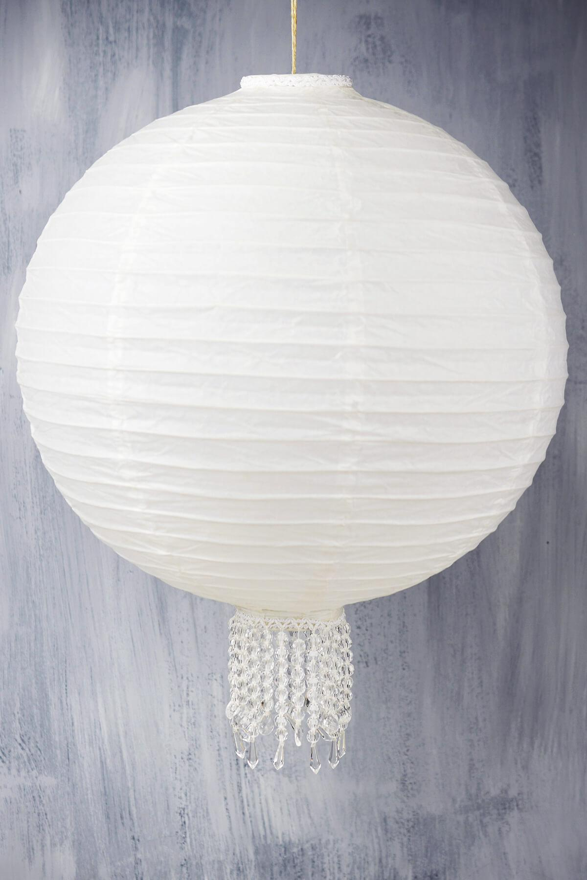 crystal 16 white wedding paper lanterns