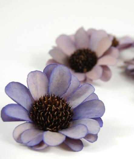 18 Handmade Lavender Palm & Thistle Flowers