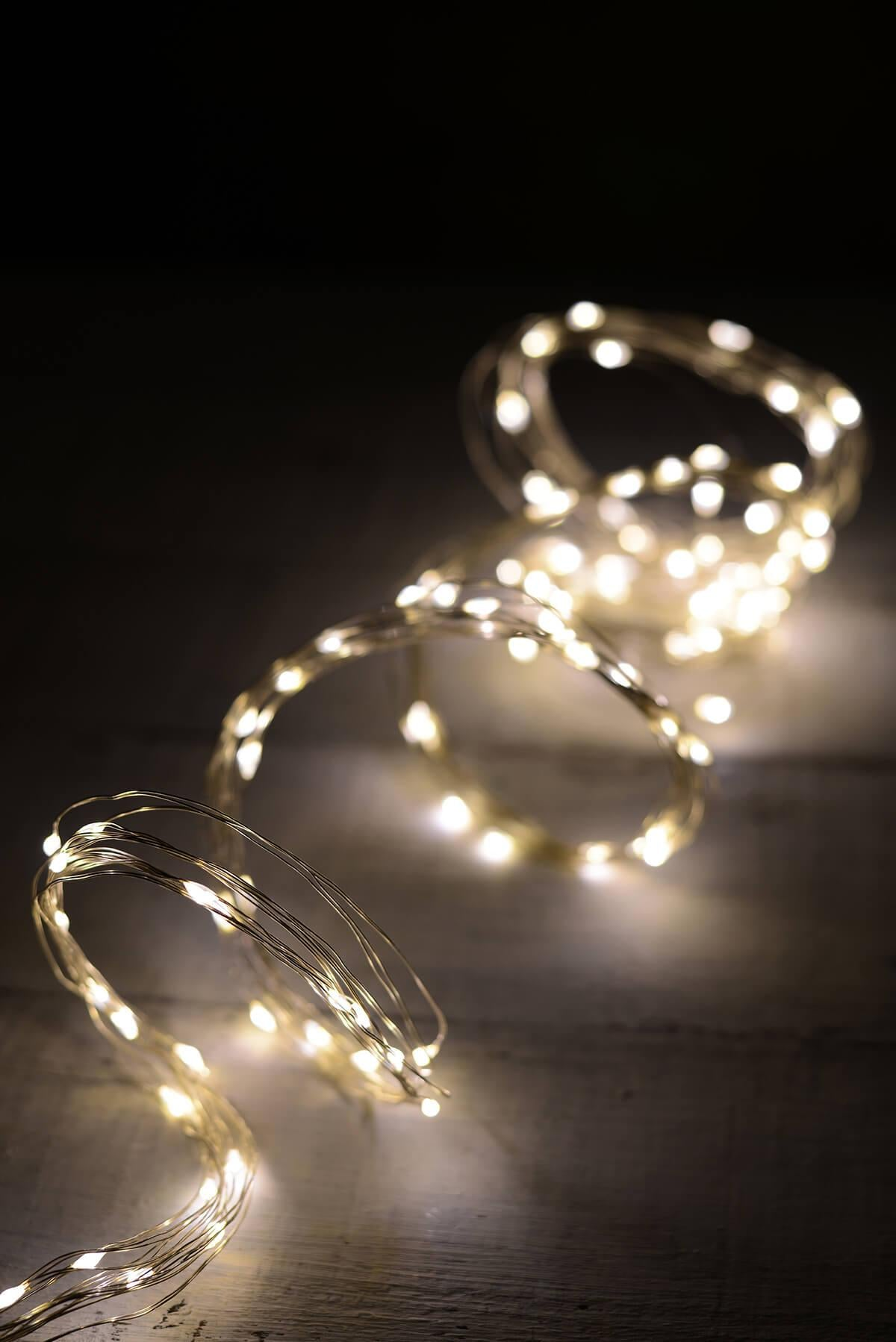 led 10 strand fairy lights warm white 120ct 6ft outdoor