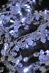 20 led lighted crystal garland battery operated 5 feet beads stones