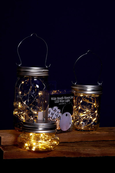 mason jar lights fairy lights battery op warm white fits a wide mouth mason jar