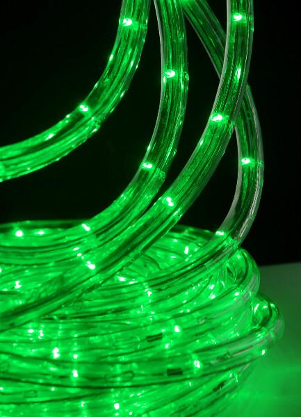 green outdoor led rope light 33 feet clear tube ac plug in