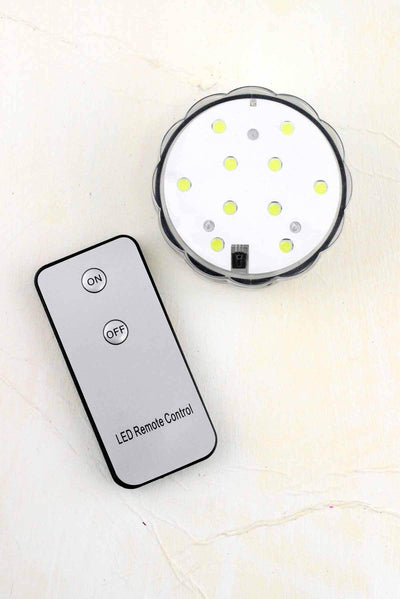 led submersible white vase light 2 3 4 remote control battery op