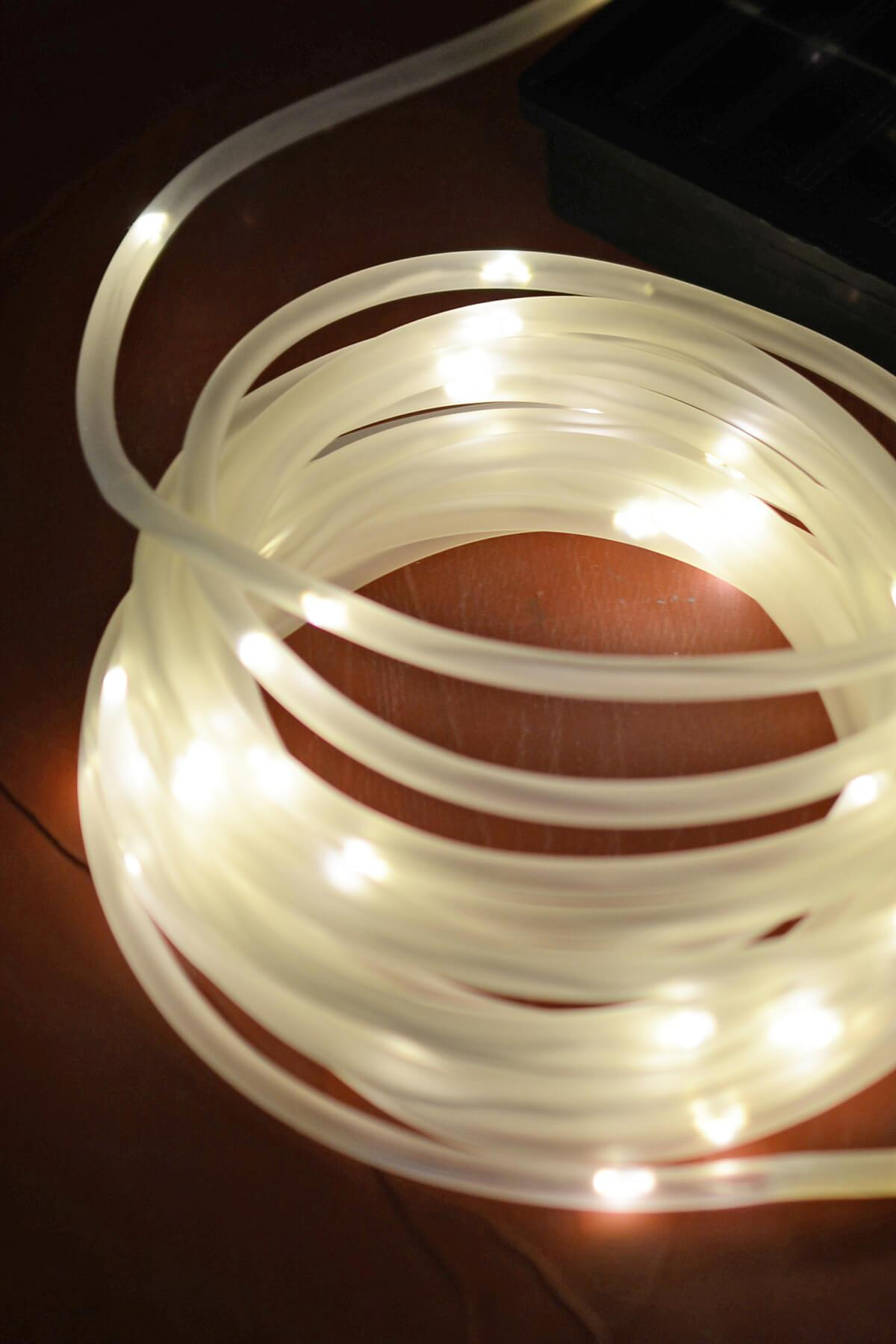 solar rope lights warm white 16 5 feet