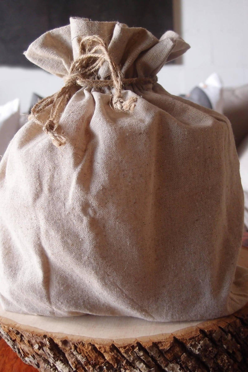 Large Linen Drawstring Bags 12 x14  (12 bags)