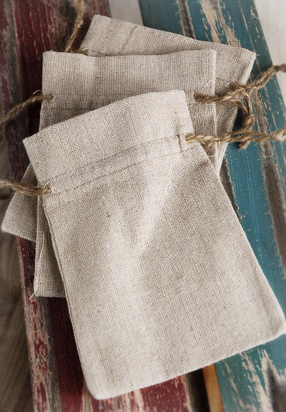 12 Linen 4x6  Favor Bags  with Jute Cord
