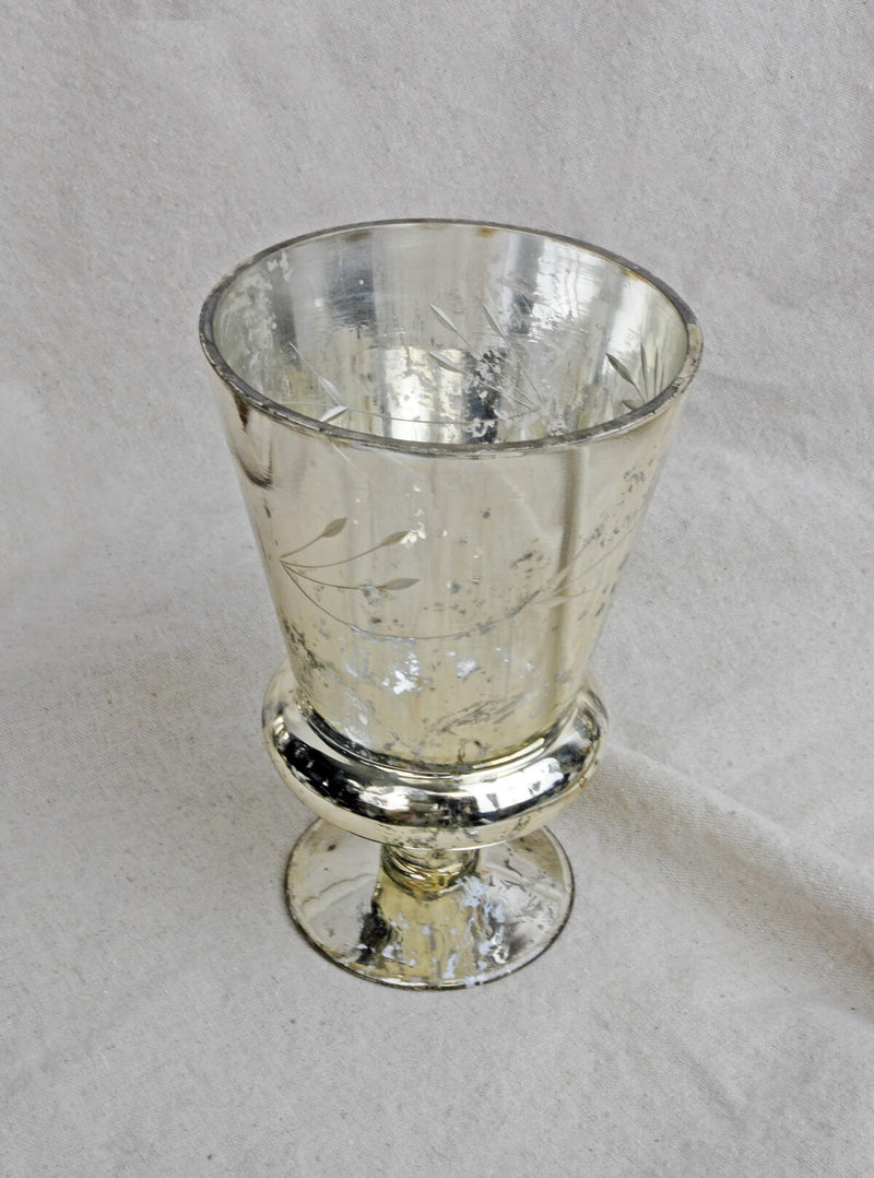 mercury vase glass tapered 6 75in