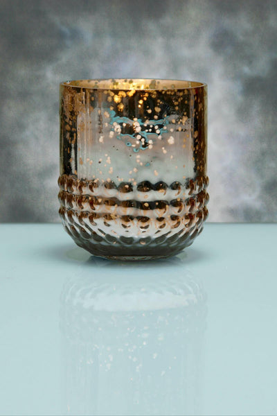 6 Array Rose Gold Votive Holders Mercury Glass