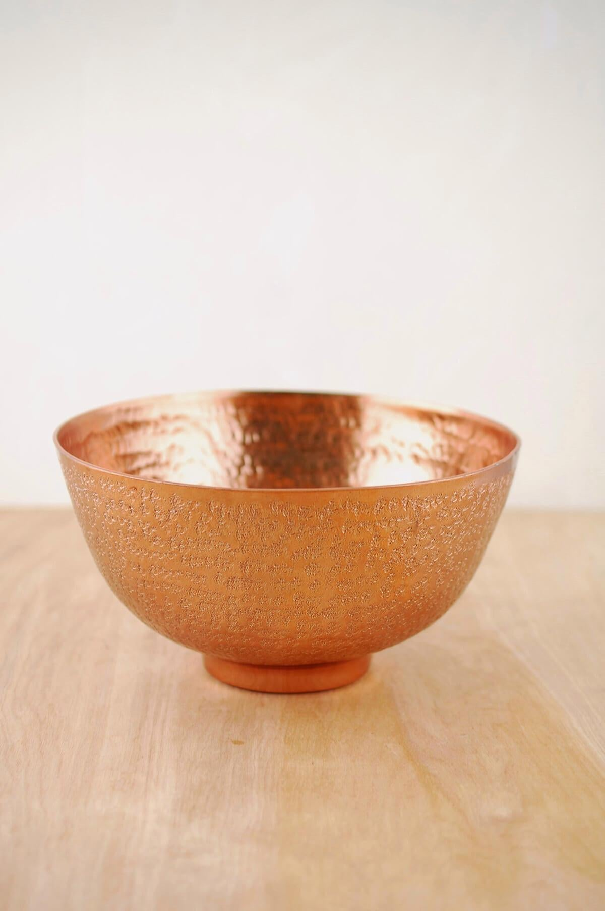 metal bowl copper 8 3 8x4 5in
