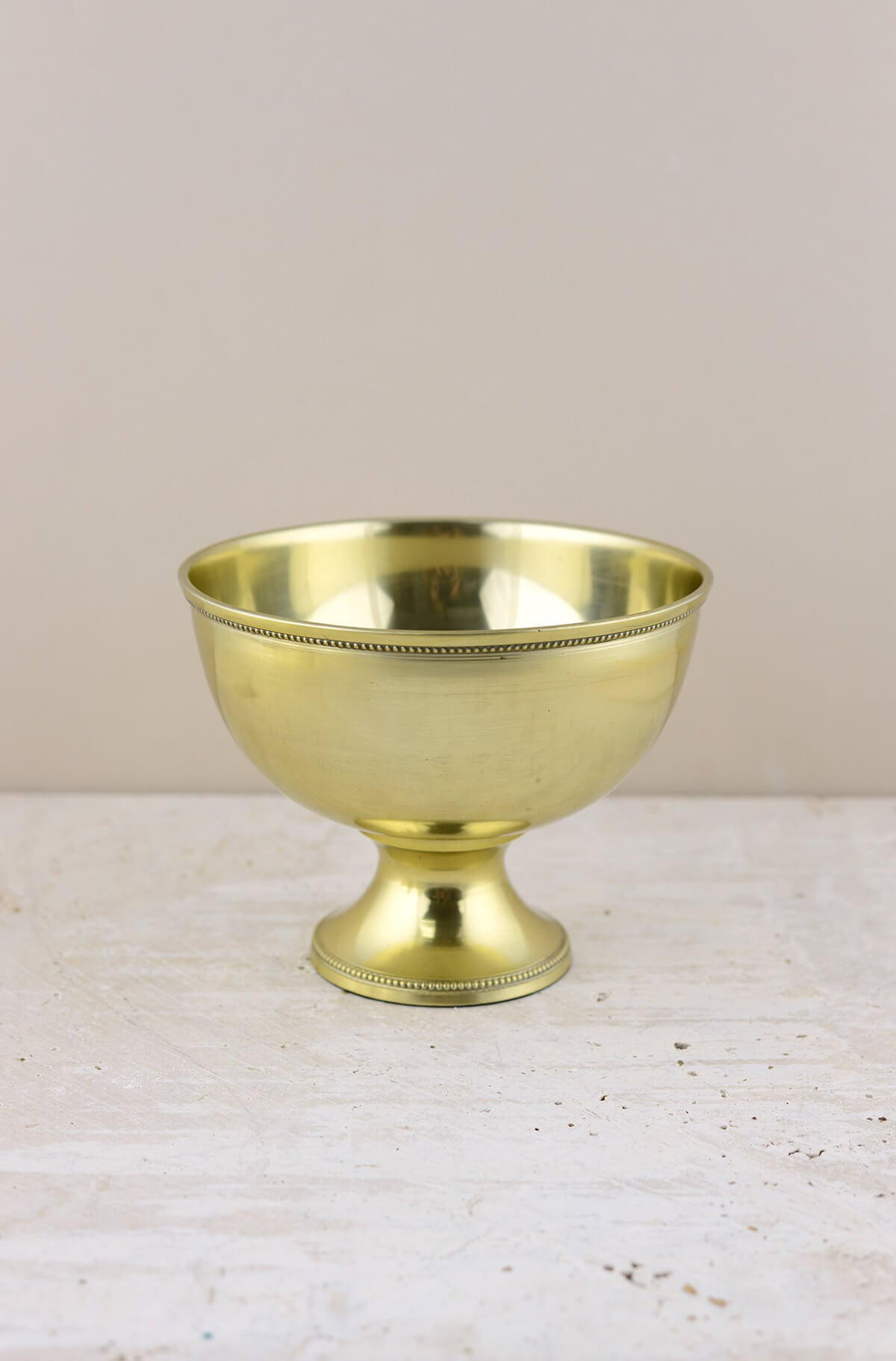 Metal Compote Gold 7x5.25in