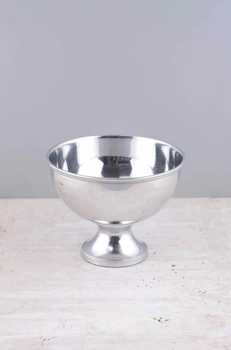 Metal Compote Silver 7 x 5.5in