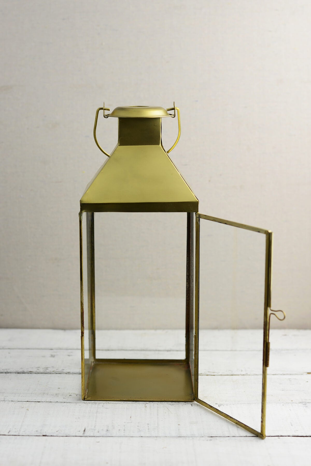 Metal Lantern Gold 5.5x14in