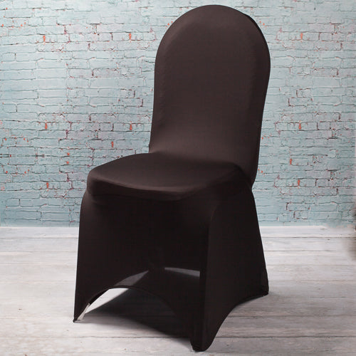 Richland Black Spandex Banquet Chair Cover Set of 10