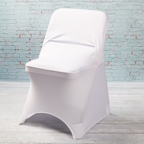 Richland White Spandex Folding Chair Cover Set of 10