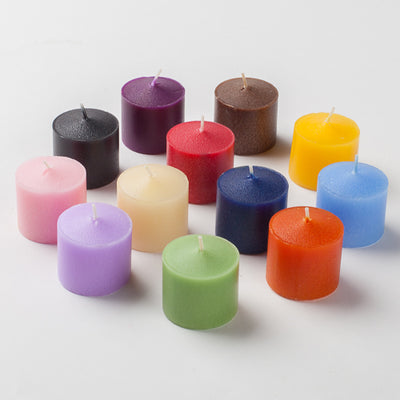 Set of 144 Assorted 10 Hour Unscented Richland Votive Candles