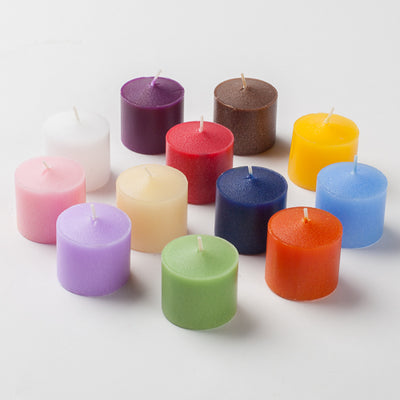 set of 288 assorted 10 hour scented richland votive candles