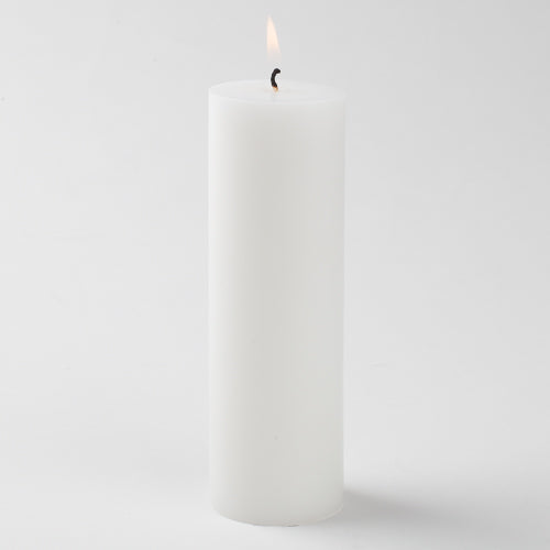 "Richland Pillar Candle 2""x6"" White Set of 10"