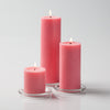 "Richland Pillar Candles 3""x3"", 3""x6"" & 3""x9"" Pink Set of 3"