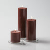 "Richland Pillar Candles 3""x3"", 3""x6"" & 3""x9"" Brown Set of 3"