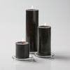 "Richland Pillar Candles 3""x3"", 3""x6"" & 3""x9"" Black Set of 3"