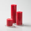 "Richland Pillar Candles 3""x3"", 3""x6"" & 3""x9"" Red Set of 12"