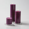 "Richland Pillar Candles 3""x3"", 3""x6"" & 3""x9"" Purple Set of 18"