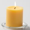 "Richland Pillar Candles 3""x3"" Yellow Set of 24"
