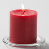"Richland Pillar Candles 3""x3"" Red Set of 48"