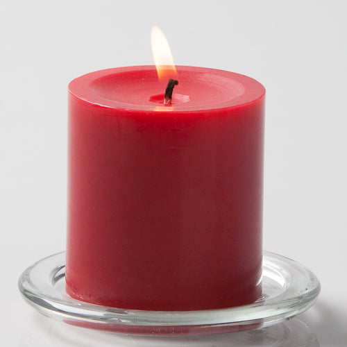 "Richland Pillar Candle 3""x3"" Red"